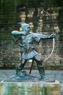 The Stuff of Legends: Robin Hood Memorial in Nottingham, UK (Wikimedia Commons)
