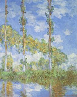 Poplars in the Sun, Claude Monet, 1898 (Wikimedia Commons)