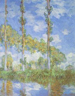 Poplars in the Sun, Claude Monet, 1898 (Wikimedia Commons)