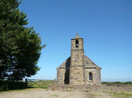 Tree (sycamore), church (Norman)