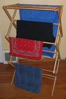 a clothes horse (image: Wikipedia)