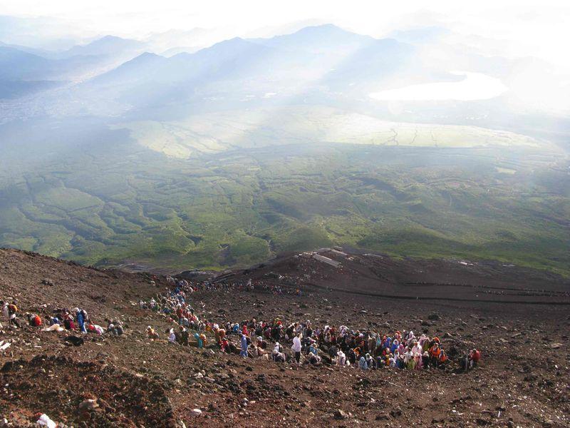 2008.08.15 Climbing Fuji