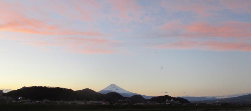 Sunset and fuji